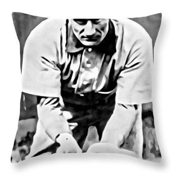 Honus Wagner Throw Pillow
