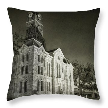 Hood County Courthouse Throw Pillow
