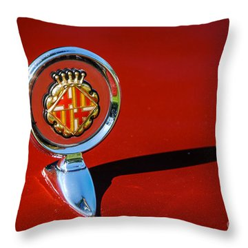 Hood Ornament On Matador Barcelona II Coupe Throw Pillow
