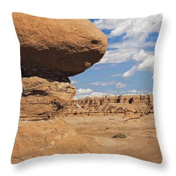 Throw Pillow featuring the photograph Hoodoo In Goblin Valley Utah by Bryan Mullennix