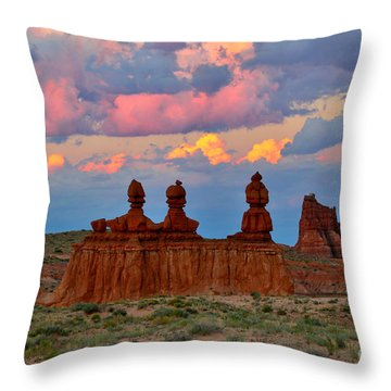Hoodoo Storm Throw Pillow