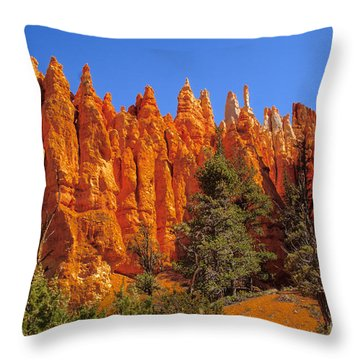 Hoodoos Along The Trail Throw Pillow