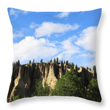 Hoodoos Throw Pillow by Alyce Taylor