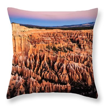 Throw Pillow featuring the photograph Hoodoos At Sunrise by Peta Thames
