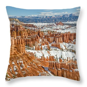Hoodoos At Sunset Point Throw Pillow