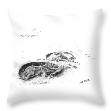Hoof Prints Throw Pillow