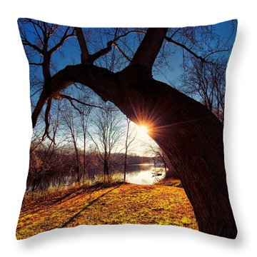 Throw Pillow featuring the photograph Hook Or Crook by Robert McCubbin