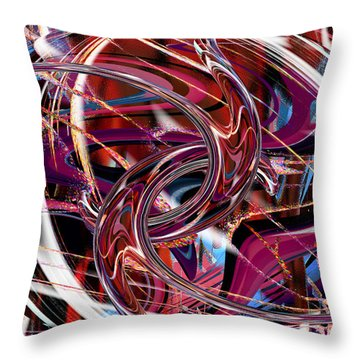 Hooking Up Throw Pillow by rd Erickson