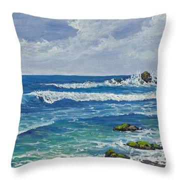 Hookipa Throw Pillow by Darice Machel McGuire