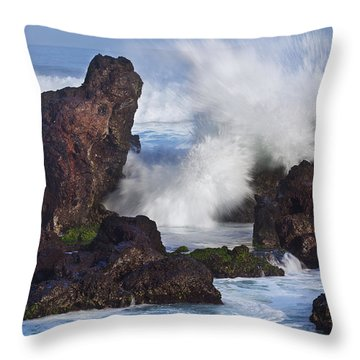 Hookipa Lava Throw Pillow by Jenna Szerlag