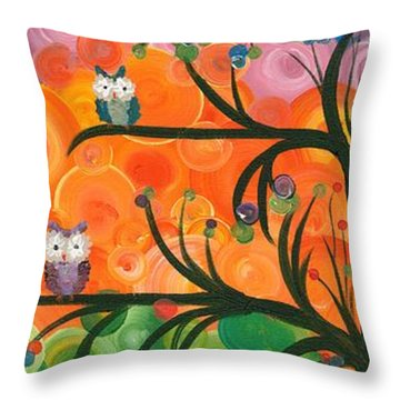 Hoolandia Family Tree 01 Throw Pillow
