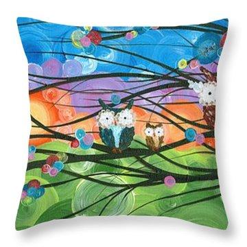 Hoolandia Family Tree 04 Throw Pillow