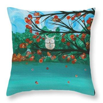 Hoolandia Seasons - Autumn Throw Pillow