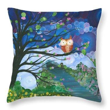Hoolandia Seasons Spring Throw Pillow