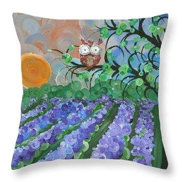 Hoolandia Seasons Summer Throw Pillow