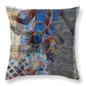 Throw Pillow featuring the photograph Hoop Dancer 18 by Carolina Liechtenstein