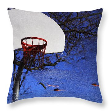 Hoop Dreams Throw Pillow by Jason Politte
