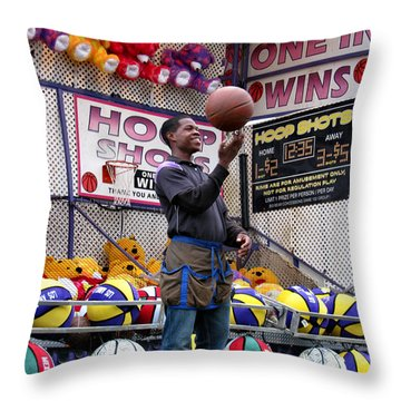 Hoop Shots Throw Pillow by Rory Sagner
