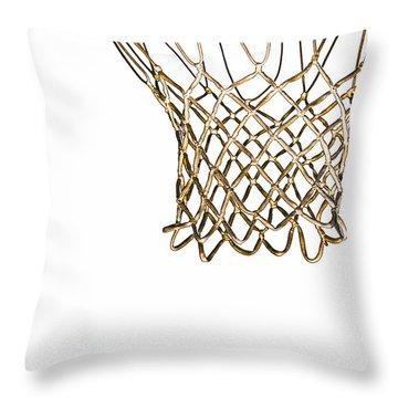 Hoops Anyone Throw Pillow by Karol Livote