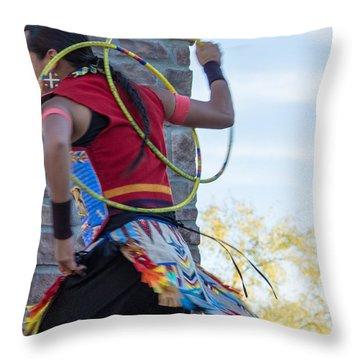 Throw Pillow featuring the photograph Hoops For Healing II by Carolina Liechtenstein