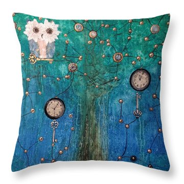 Hoopunked - Steampunked No. 376 Throw Pillow