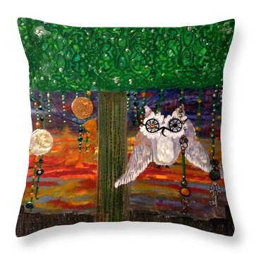 Hoopunked Steampunked No. 389 Throw Pillow