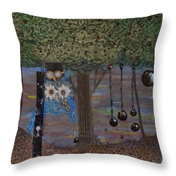 Hoopunked Steampunked No. 391 Throw Pillow