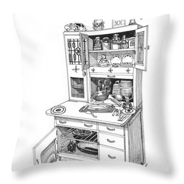 Hoosier Kitchen Throw Pillow by Jack Pumphrey