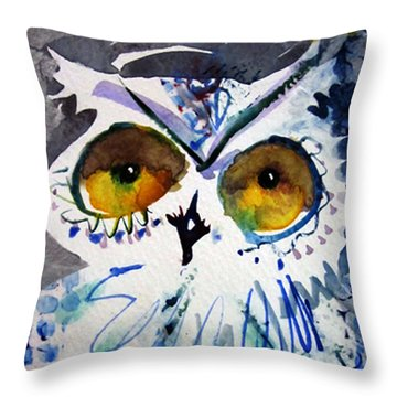 Hoot Cropped Throw Pillow