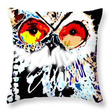 Hoot Digitized Throw Pillow