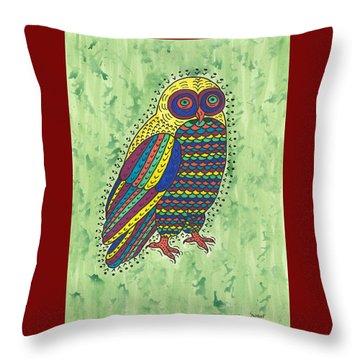 Hoot Owl Throw Pillow