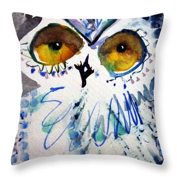 Hoot Uncropped Throw Pillow