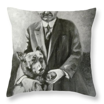 Hoover And King Tut Throw Pillow
