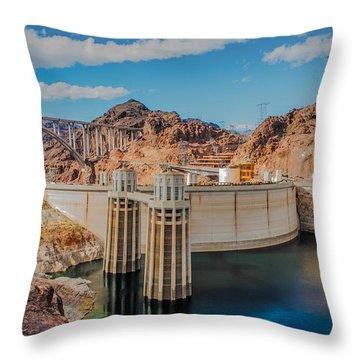 Hoover Dam Reservoir Throw Pillow