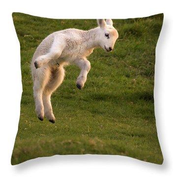 Hop Hop Hop Throw Pillow