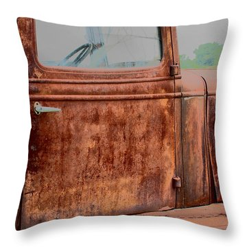 Throw Pillow featuring the photograph Hop In by Lynn Sprowl