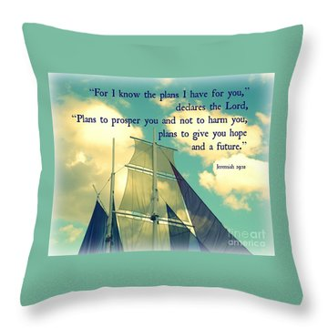 Hope And A Future Throw Pillow by Valerie Reeves