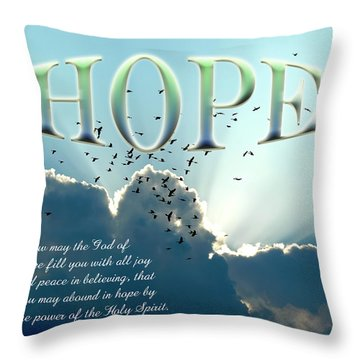 Hope Throw Pillow by Carolyn Marshall