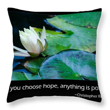 Hope Throw Pillow by Don Schwartz