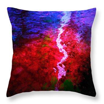 Throw Pillow featuring the digital art Hope For A Broken Heart - Healing Art by Absinthe Art By Michelle LeAnn Scott