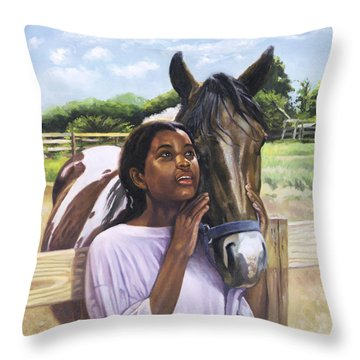 Hope For Tomorrow Throw Pillow by Colin Bootman