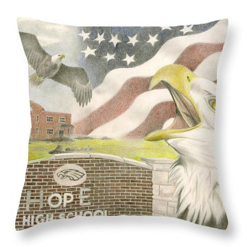 Hope High School Throw Pillow