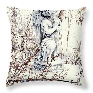 Hope In Winter Throw Pillow