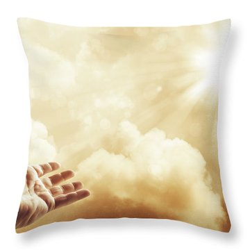 Hope Throw Pillow by Les Cunliffe