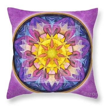 Hope Mandala Throw Pillow