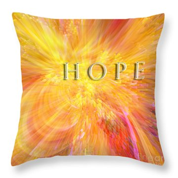 Throw Pillow featuring the digital art Hope by Margie Chapman
