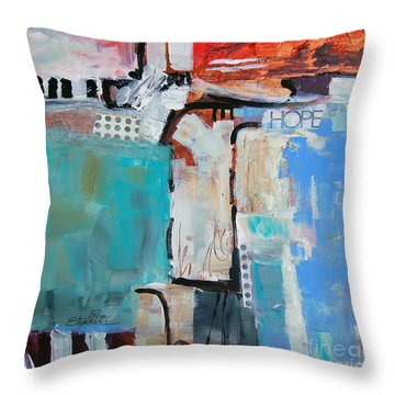 Hope Throw Pillow by Ron Stephens
