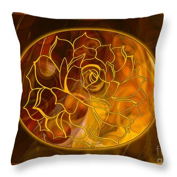 Throw Pillow featuring the digital art Hope Springs Eternal Abstract Healing Art by Omaste Witkowski