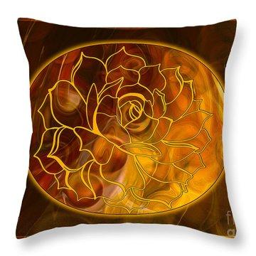 Hope Springs Eternal Abstract Healing Art Throw Pillow