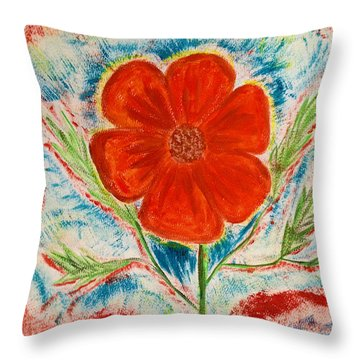 Hope Springs Up Throw Pillow by Sherry Flaker